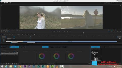 Skærmbillede Adobe SpeedGrade Windows 8.1