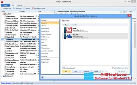 Skærmbillede Gmail Notifier Windows 8.1
