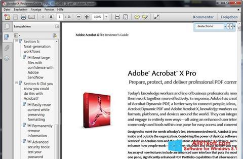 Skærmbillede Adobe Reader Windows 8.1
