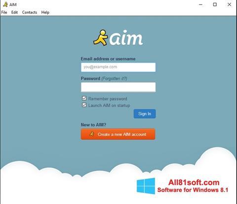 Skærmbillede AOL Instant Messenger Windows 8.1