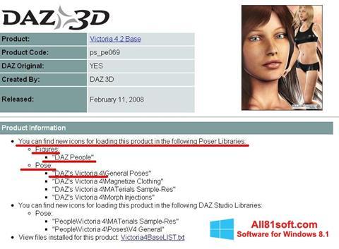 Skærmbillede DAZ Studio Windows 8.1