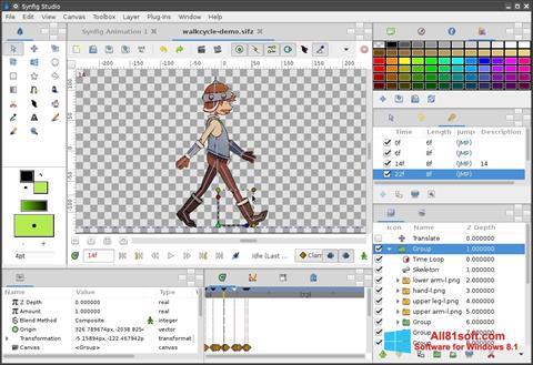 Skærmbillede Synfig Studio Windows 8.1