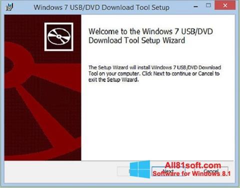 Skærmbillede Windows 7 USB DVD Download Tool Windows 8.1
