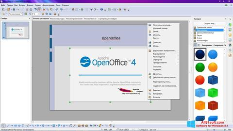 Skærmbillede Apache OpenOffice Windows 8.1