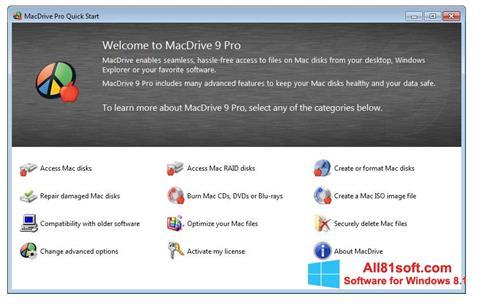 Skærmbillede MacDrive Windows 8.1