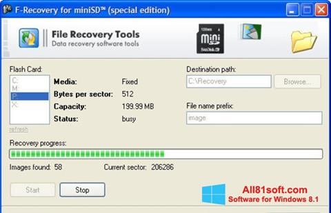Skærmbillede F-Recovery SD Windows 8.1