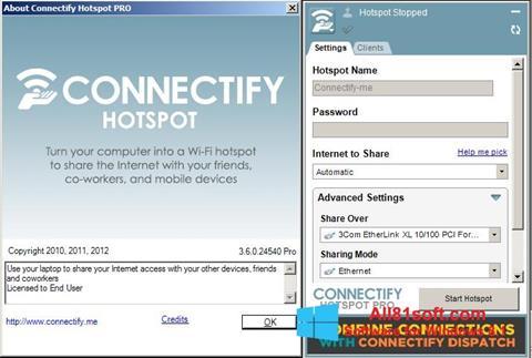 Skærmbillede Connectify Windows 8.1
