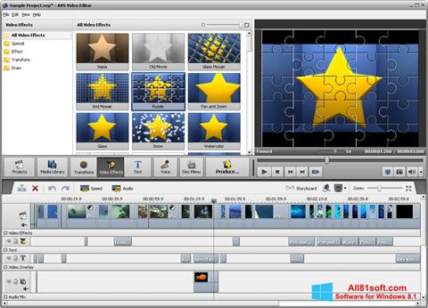 Skærmbillede AVS Video Editor Windows 8.1
