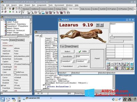 Skærmbillede Lazarus Windows 8.1