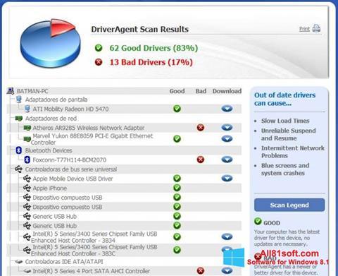 Skærmbillede DriverAgent Windows 8.1