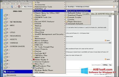 Skærmbillede AviSynth Windows 8.1