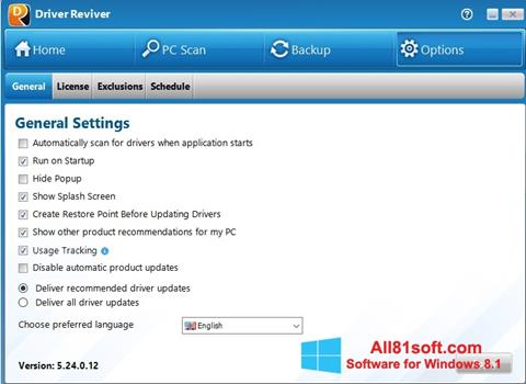 Skærmbillede Driver Reviver Windows 8.1