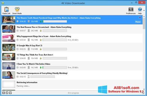 Skærmbillede 4K Video Downloader Windows 8.1