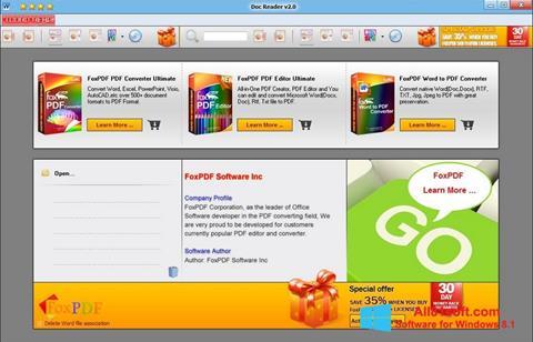 Skærmbillede Doc Reader Windows 8.1