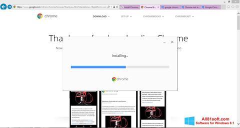 Skærmbillede Google Chrome Offline Installer Windows 8.1