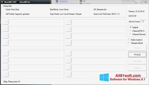 Skærmbillede AlcorMP Windows 8.1