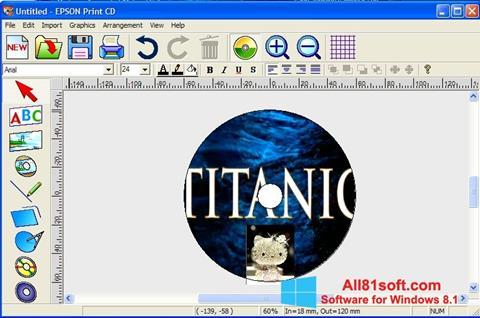 Skærmbillede EPSON Print CD Windows 8.1