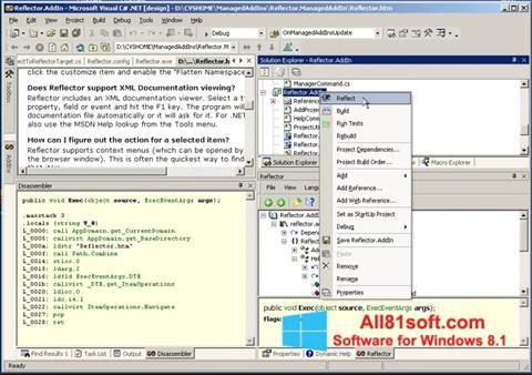 Skærmbillede Reflector Windows 8.1