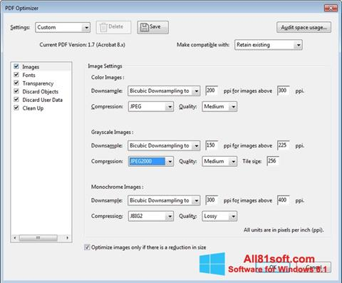 Skærmbillede Adobe Acrobat Pro DC Windows 8.1