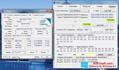 Skærmbillede SetFSB Windows 8.1