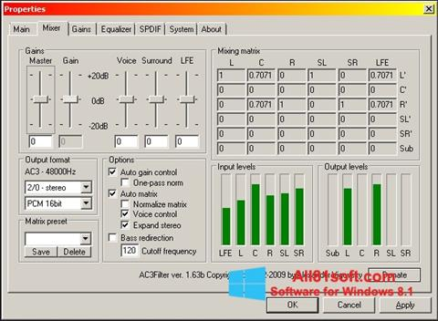Skærmbillede AC3 Codec Windows 8.1