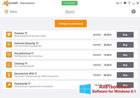 Skærmbillede Avast Free Antivirus Windows 8.1