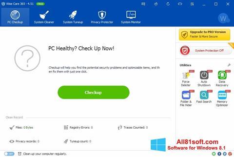 Skærmbillede Wise Care 365 Windows 8.1