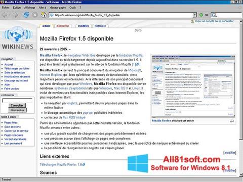 Skærmbillede Mozilla Firefox Windows 8.1