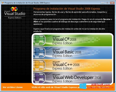 Skærmbillede Microsoft Visual Studio Windows 8.1