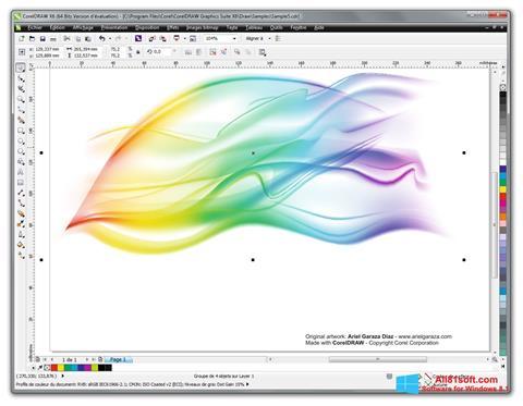Skærmbillede CorelDRAW Windows 8.1