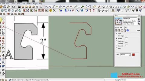 Skærmbillede SketchUp Windows 8.1