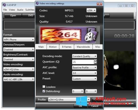 Skærmbillede XviD4PSP Windows 8.1