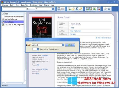 Skærmbillede All My Books Windows 8.1