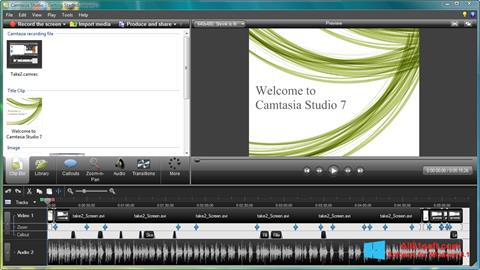 Skærmbillede Camtasia Studio Windows 8.1