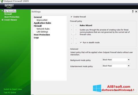 Skærmbillede Outpost Firewall Free Windows 8.1