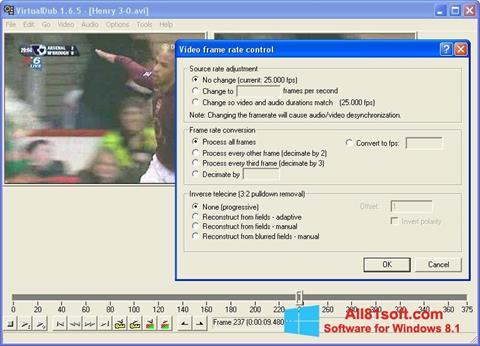 Skærmbillede VirtualDubMod Windows 8.1