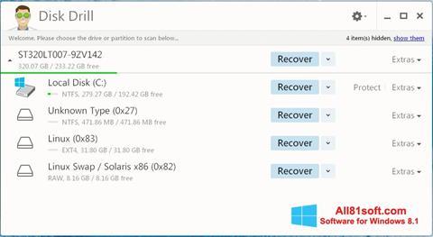 Skærmbillede Disk Drill Windows 8.1