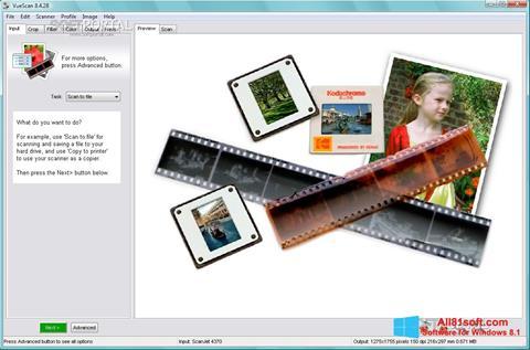 Skærmbillede VueScan Windows 8.1