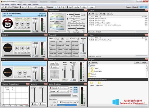Skærmbillede SAM Broadcaster Windows 8.1