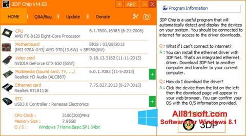 Skærmbillede 3DP Net Windows 8.1