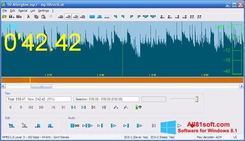Skærmbillede mp3DirectCut Windows 8.1