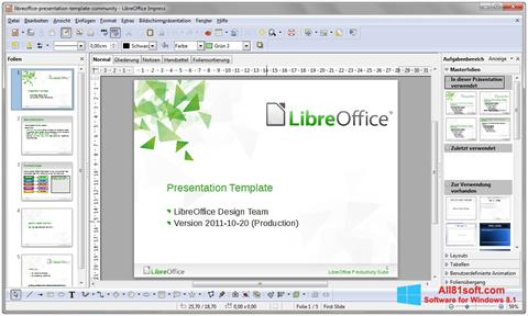 Skærmbillede LibreOffice Windows 8.1