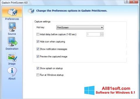 Skærmbillede Gadwin PrintScreen Windows 8.1