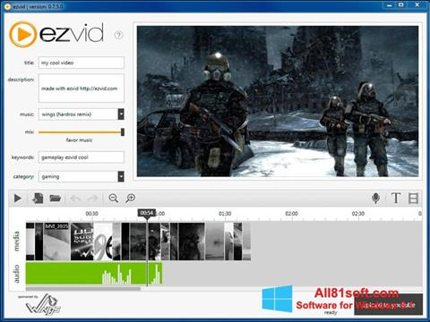 Skærmbillede Ezvid Windows 8.1