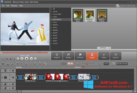 Skærmbillede Movavi Video Suite Windows 8.1
