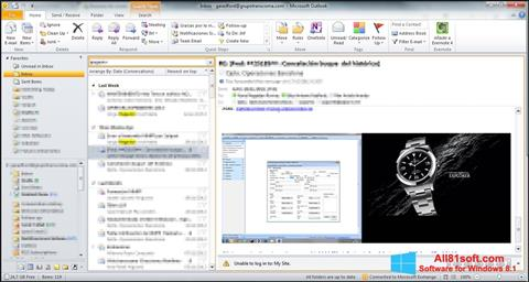 Skærmbillede Microsoft Outlook Windows 8.1