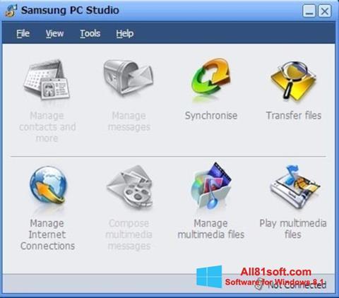 Skærmbillede Samsung PC Studio Windows 8.1