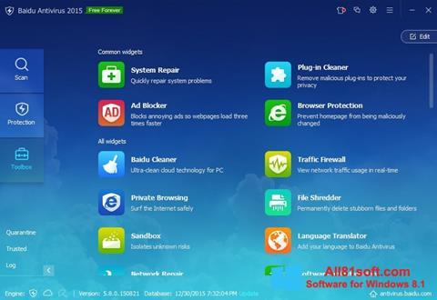 Skærmbillede Baidu Antivirus Windows 8.1