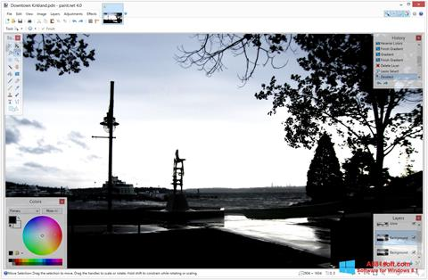 Skærmbillede Paint.NET Windows 8.1