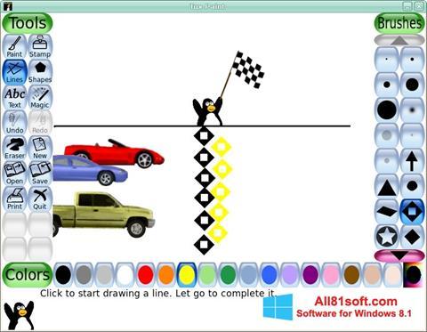 Skærmbillede Tux Paint Windows 8.1